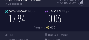 First Speed Test