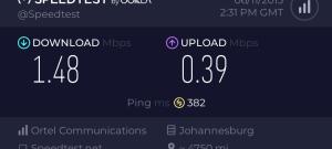 Ortel Broadband Speed