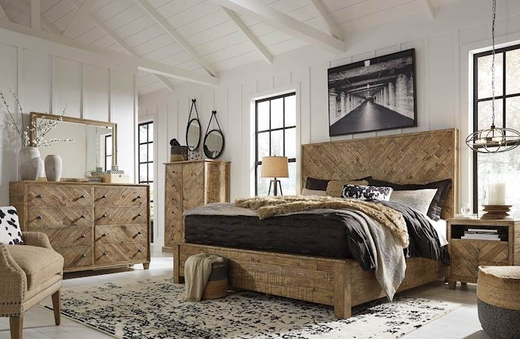 grindleburg light brown bedroom set