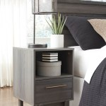 Brymont Dark Gray One Drawer Night Stand Speedyfurniture Com
