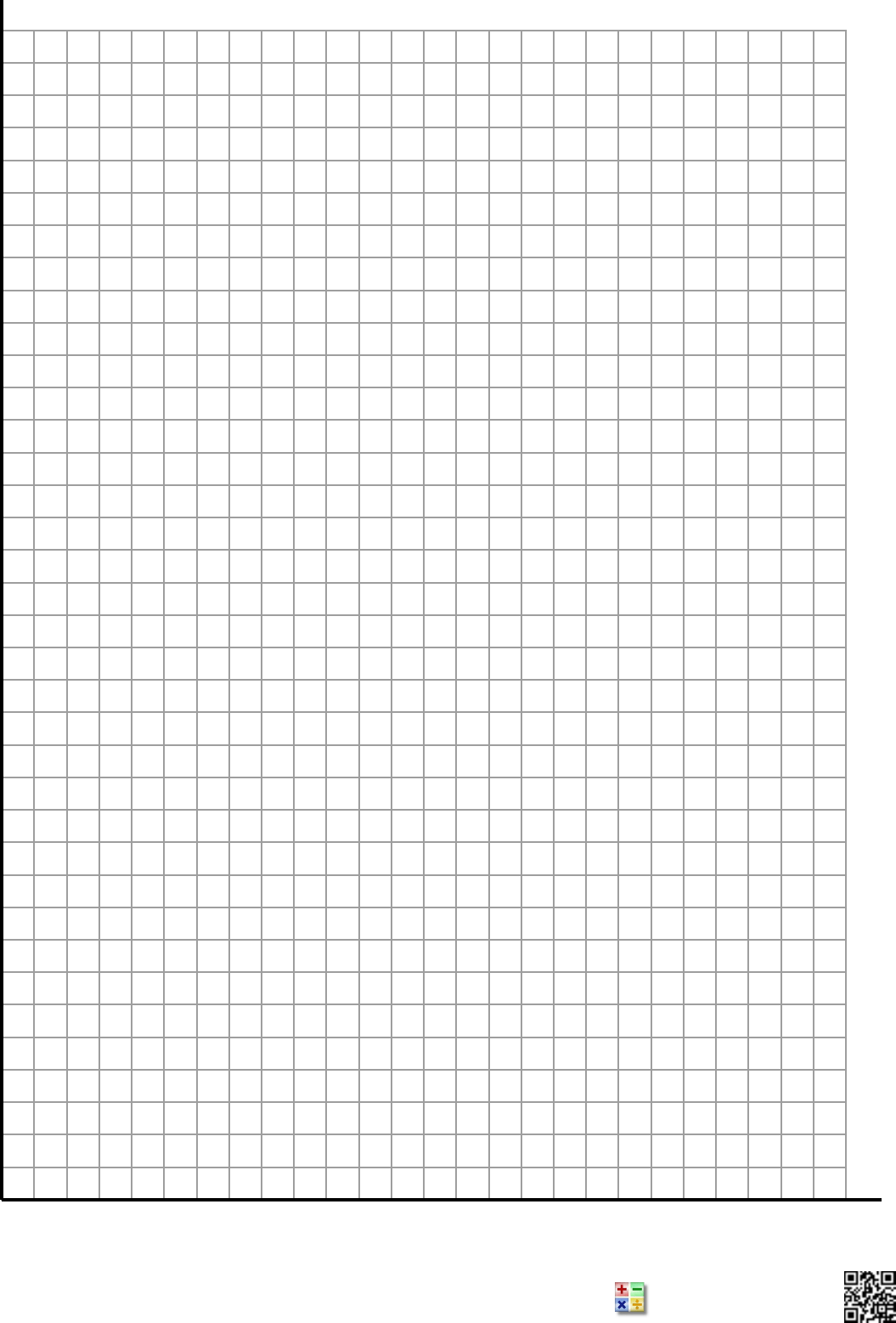 Free Single Quadrant 1 Per Page Graphing Paper