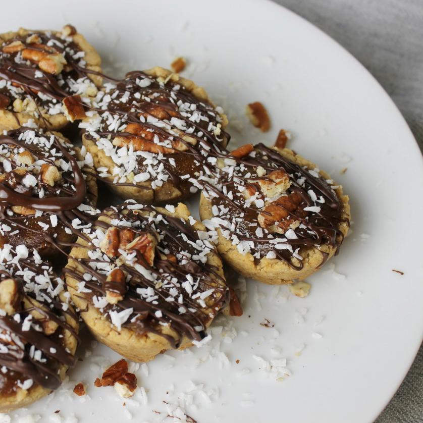 Chocolate Peanut butter vegan butter tart recipe.