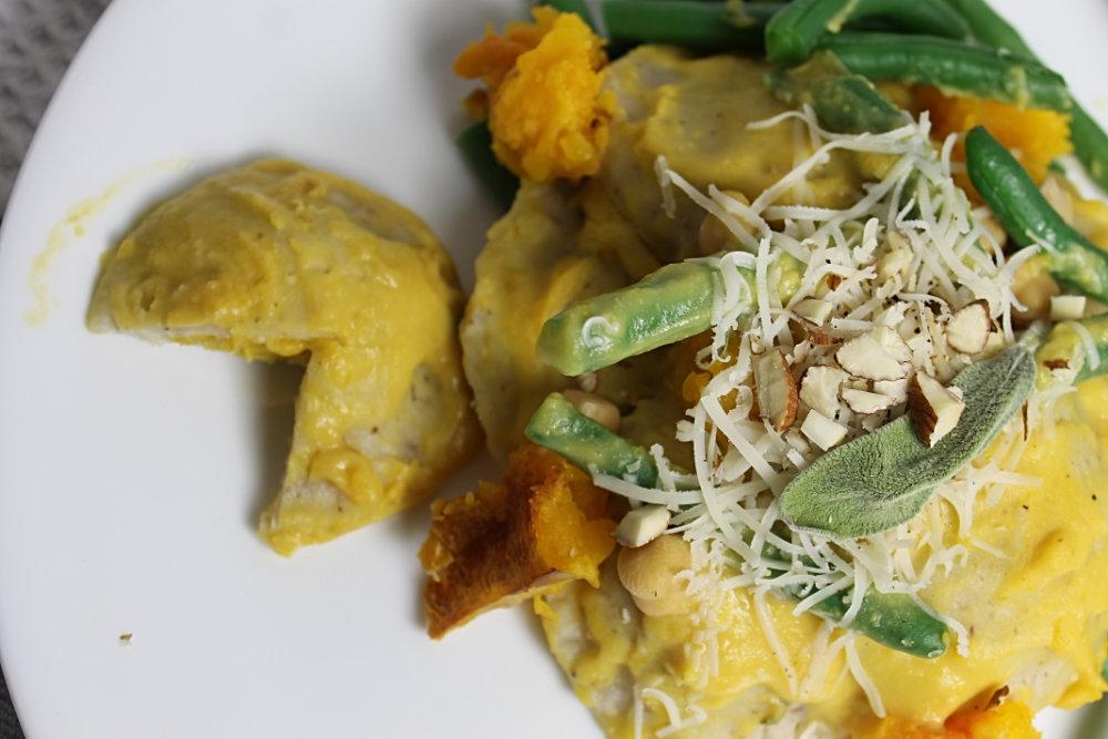 Savoury Vegan Gluten Free Butternut Squash Ravioli