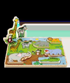 Hape Wilde dieren puzzel