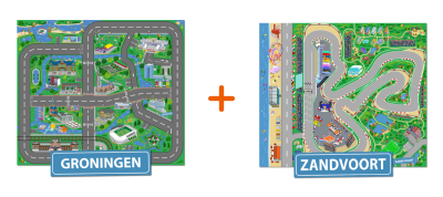 Combideal: het speelkleed van Groningen en van Zandvoort
