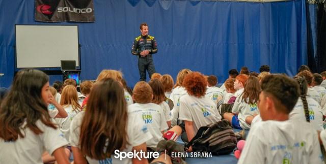 Earchphoto - Derek De Boer speaking to young athletes.