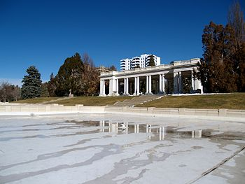 English: Denver's Cheesman Park in the winter.