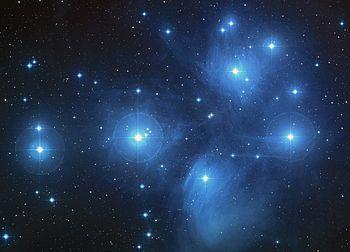 English: Pleiades Star Cluster