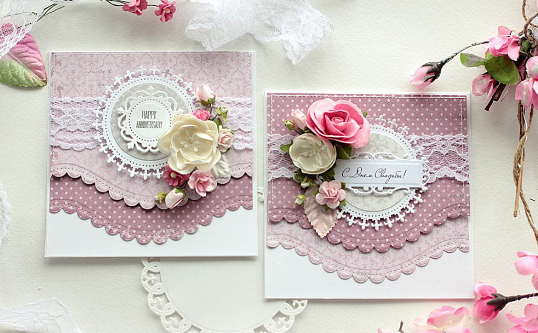 Layered Curved Borders with Your Cards