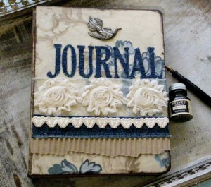 Fabric Covered Journal by Linda Lucas for Spellbinders Paper Arts