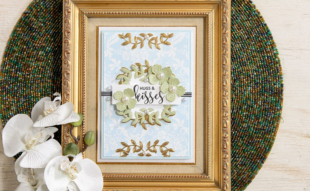Inlaid Die-Cutting: Hugs & Kisses with Border Flowers