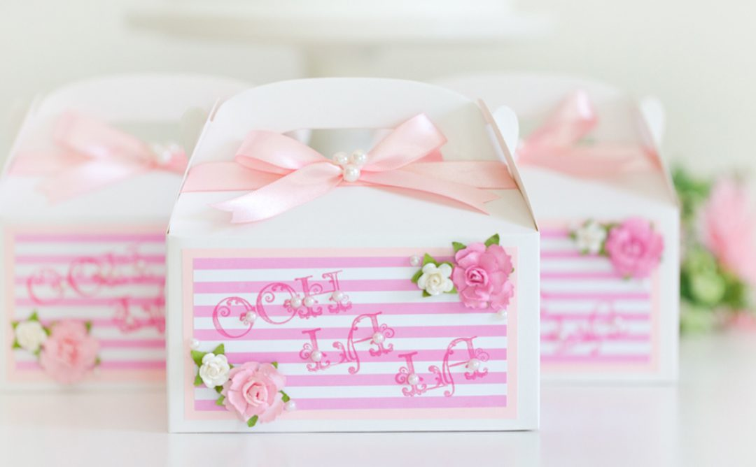 Delightful Ooh La La Party Favor Boxes