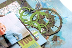 Little Boy Layout with Seth Apter Dies by Elena Olinevich for Spellbinders