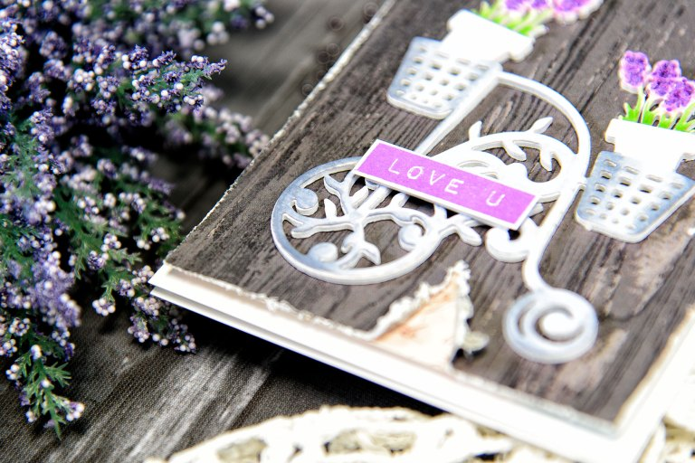 Love You Card by Yana Smakula for Spellbinders using Shapeabilities Lavender Trike Etched Dies