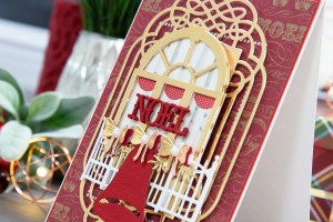 Layered Dimensional Die Cutting. Episode #5 - Christmas Balcony Card by Yana Smakula for Spellbinders