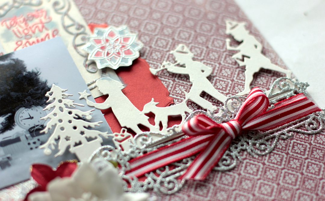 Christmas Presents Scrapbook Layout with Elena