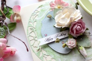 Floral Birthday Cards with Elena Olinevich for Spellbinders using S5-327 Annabelle's Trousseau Layering Frame Medium S5-330 Lunette Arched Borders S6-129 Bella Rose Lattice Layering Frame Large #spellbinders #birthdaycard #cardmaking