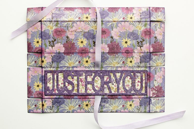 Just For You Box by Marisa Job for Spellbinders using S6-133 Just For You Box dies. #spellbinders #papercrafting #diecutting #handmade #giftbox