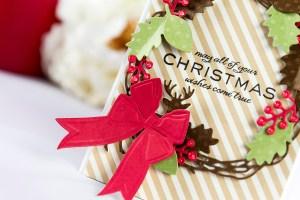 Cardmaking Inspiration   Christmas Wishes Card by Yana Smakula using Lene Lok Four Seasons Collection for Spellbinders #spellbinders #christmascard #cardmaking