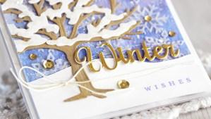 Four Seasons Winter Wishes by Laurie Schmidlin for Spellbinders using S4-840 Four Seasons Tree, S4-844 Winter Canopy and Elements dies #spellbinders #diecutting #cardmaking