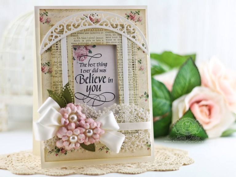 Spring Flowers April Showers by Becca Feeken using S4-792 Cinch and Go Flowers 2,S5-330 Lunette Arched Borders,S5-308 Hemstitch Rectangles,S5-131 Matting Basics A #flowers #handmade flowers #diecutting