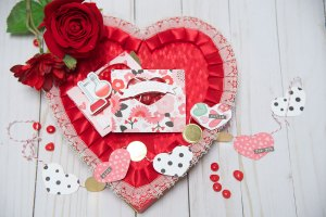 Creating a Valentine's Day Favor for Someone Special by Debi Adams for Spellbinders using S4-116 Standard Circles Small, S5-325 MatchBook, SDS-115 Just Chillin, SDS-111 Reaction. #valentinesday #spellbinders #neverstopmaking