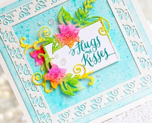 Large Die Of The Month Inspiration   Floral Lace Frame Die Set with Kay