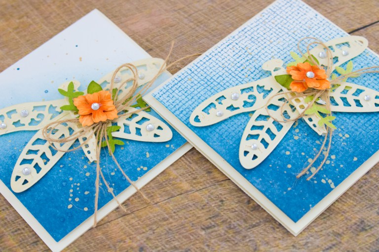Flower Garden Collection by Sharyn Sowell - Inspiration   Botanical Dragonfly Card with Cynde. Video tutorial using S2-285 Bird on Cherry Branch, S2-287 Botanical Dragonfly, S4-847 Floral Panel Card, S5-339 Tiny Shadow Box. #spellbinders #diecutting #handmadecard #cardmaking