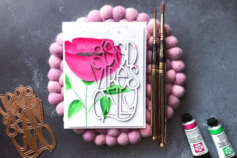 Good Vibes Only Collection by Stephanie Low - Inspiration | Good Vibes Only with Rubeena for Spellinders using S4-918 Good Vibes Only #spellbinders #cardmaking #handmadecard #neverstopmaking
