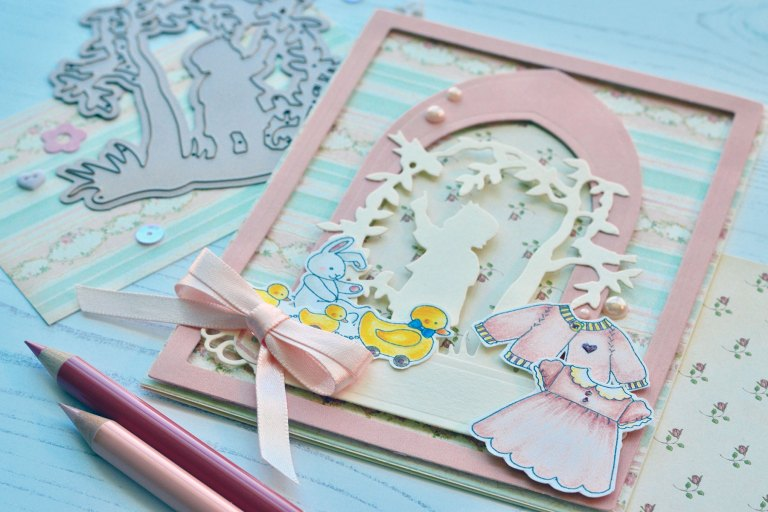 Little Loves Collection by Sharyn Sowell - Inspiration | Silhouette Cards by Susie Lessard for Spelbinders using S3-331 First Adventure, S3-332 Baby's Garden #spellbinders #diecutting #handmadecard #neverstopmaking