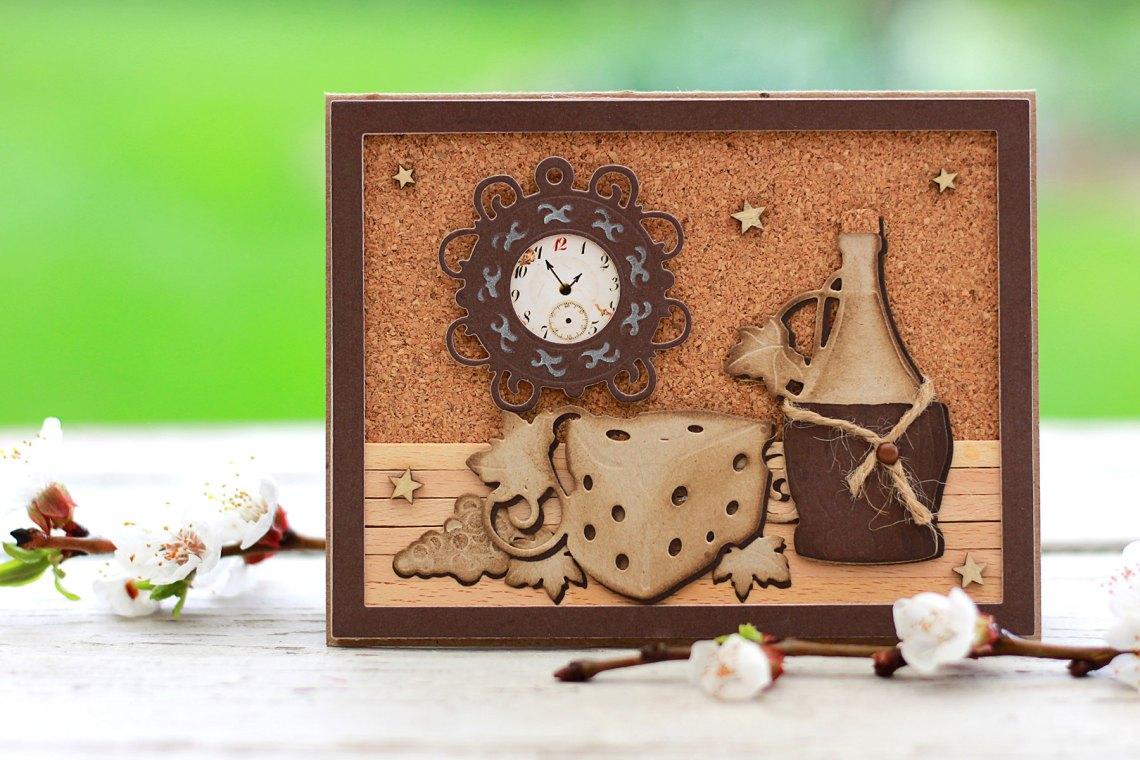 Video Friday | Wine O'Clock with Olga for Spellbinders using: S5-347 Wine Charms, S4-878 Frame Charms, SDS-135 Barrel of Sentiments #spellbinders #diecutting #handmadecard #winecountry #neverstopmaking