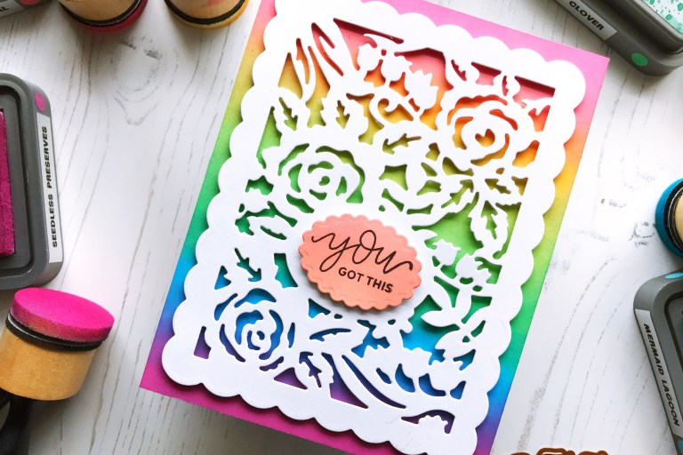 Flower Garden Collection by Sharyn Sowell - Inspiration | Flower Garden Card by Ruby for Spellbinders using S4-487 Card Creator Floral Panel Card #spellbinders #diecutting #handmadecard #neverstopmaking #sharynsowell #flowergarden