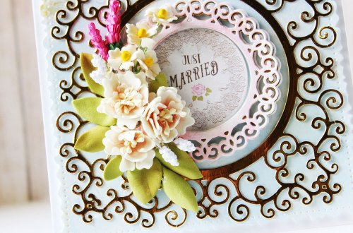 Special Moments Collection by Marisa Jov - Inspiration | Layered Cards by Hussena for Spellbinders. Dies used: S4-116 Standard Circles SM, S4-942 Swirls Border, S4-944 Floral Lace Border, S5-374 Special Day Frame, S5-378 Floral Oval, S7-215 Vintage Stitched Squares dies #spellbinders #diecutting #handmadecard #neverstopmaking #marisajob