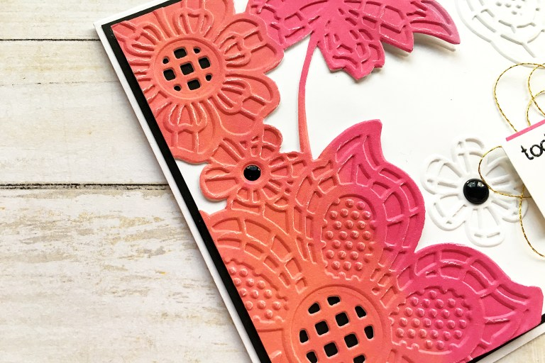 Cut & Emboss Folders Inspiration | Everyday Cards With Enza for Spellbinders using CEF-005 Floret Cluster, CEF-002 Flower Garden, CEF-004 Baroque Filigree, CEF-003 Rose Flourish #spellbinders #embossing #cardmaking #neverstopmaking