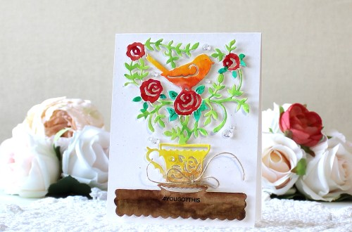 Spellbinders Cuppa Coffee, Cuppa Tea Collection by Sharyn Sowell - Inspiration | You Got This Coffee Card with Yoonsun Hur featuring S4-955 Blooming Brew dies #neverstopmaking #spellbinders #sharynsowell #diecutting #handmadecard