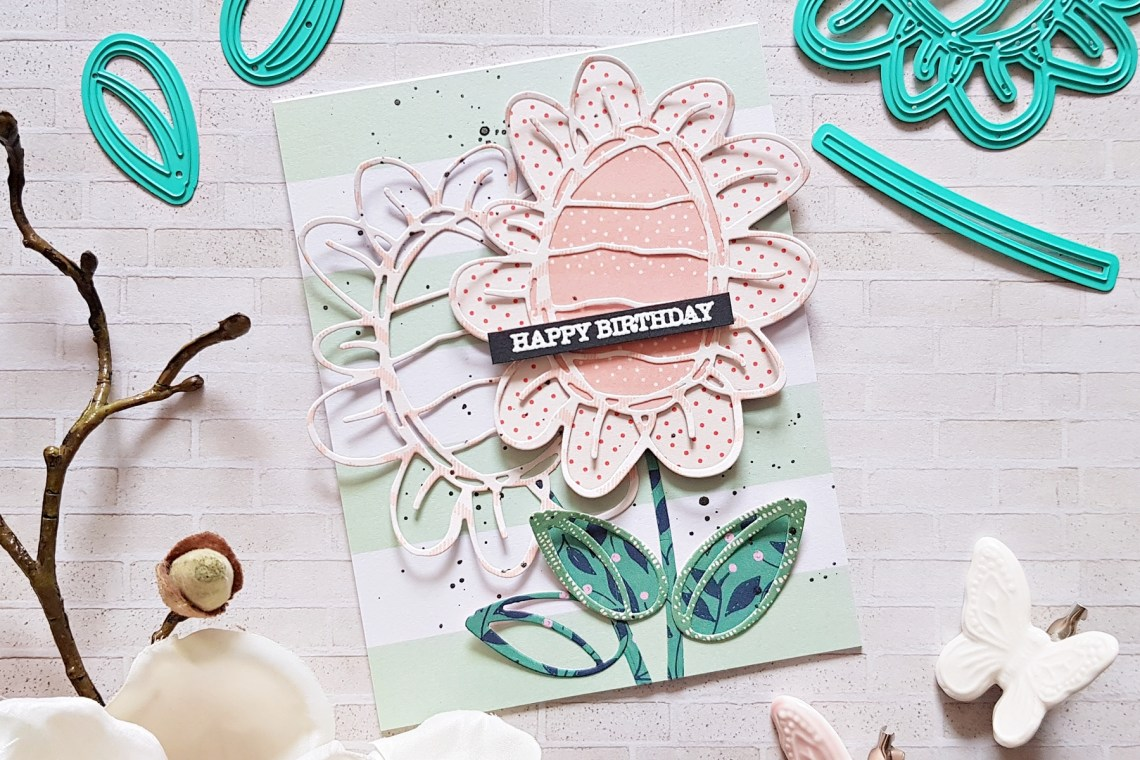 Spellbinders Jane Davenport Artomology | Floral Mixed Media Cards with Zsoka Marko featuring JDD-005 You Are Unique, JDD-039 Sunflower Journal, JD-031 Deep Sea Die Cutting and Embossing Machine #janedavenport #janedavenportartomology #Artomology #spellbinders #neverstopmaking #makeitwithmichaels