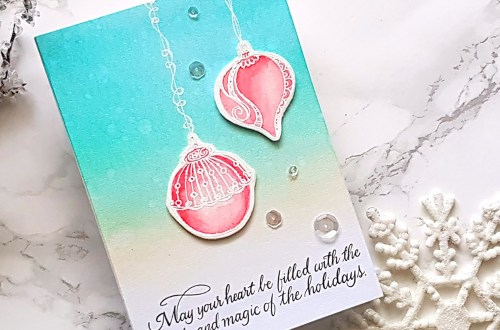 Spellbinders Zenspired Holidays Collection by Joanne Fink - Inspiration | Beautiful Ornaments with Alexandra Suta featuring SBS-164 Dangling Ornaments, SBS-165 Christmas Sentiments #spellbinders #neverstopmaking