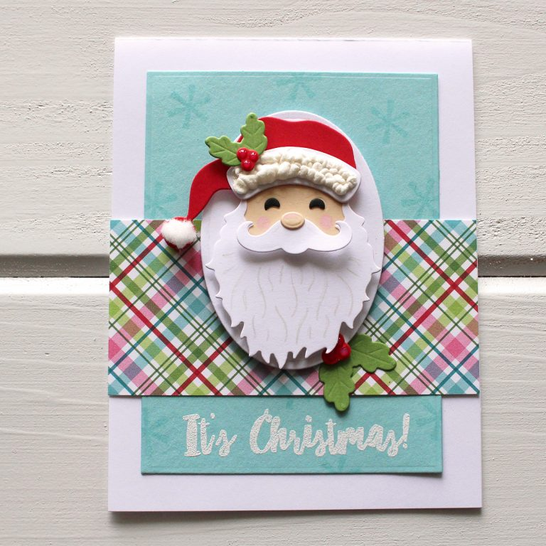 Spellbinders Die D-Lites Holiday Inspiration | Christmas Character Cards with Kimberly Crawford featuring S3-358 Reindeer, S3-359 Santa, S3-360 Snowman. #spellbinders #neverstopmaking #diecutting