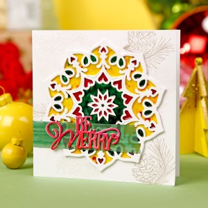 Faux Stained-Glass Holiday Cards by Christine Smith as seen in Simply Cards and Papercraft Issue 183