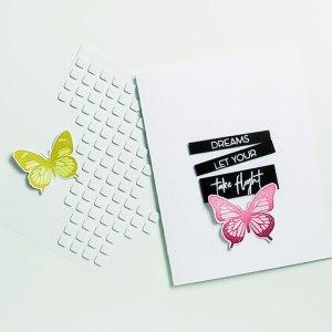 Spellbinders NEW Clear Stamps | Let Your Dreams Take Flight Card #spellbinders #neverstopmaking