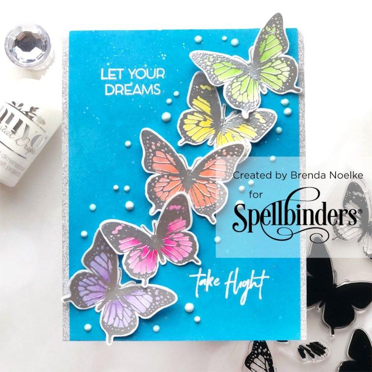 Spellbinders NEW Clear Stamps | Flowers & Butterflies with Brenda Noelke #neverstopmaking #spellbinders