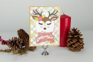 "Using Just Stamps & Dies! November ""Deer"" Santa 2018 Card Kit of the Month Edition"