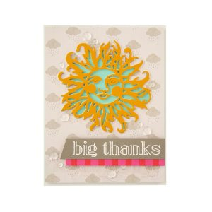 Great, Big, Wonderful World | Collection Introduction by Sharyn Sowell. S3-363-Sharyn-Great-Big-Wonderful-World-Sun-Face-Etched-Dies-project