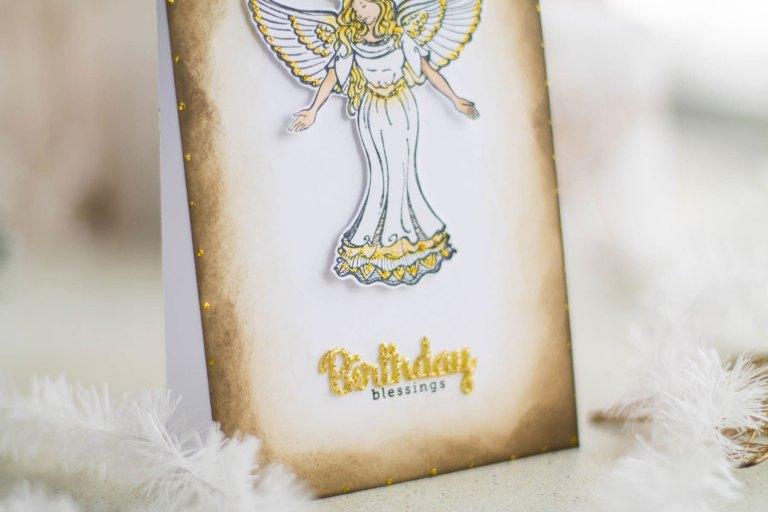 Zenspired Holidays Inspiration | Birthday Blessings Card by Elena Salo for Spellbinders #spellbinders #neverstopmaking #birthdaycard