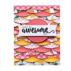 Spellbinders December 2018 Club Gift - Have an Awesome Day Handmade Card. Step 4.
