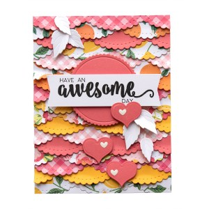Spellbinders December 2018 Club Gift - Have an Awesome Day Handmade Card. Step 5.