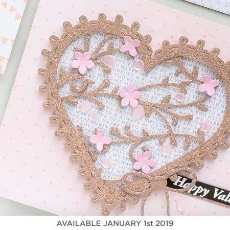 Spellbinders Large Die of the Month (available January 1st, 2019)