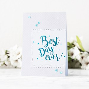 Spellbinders Glimmer Plates Inspiration   Clean & Simple Foiled Cards with Kaja