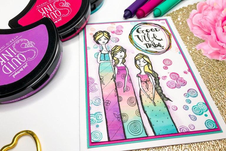 Rainbowitis Card using Jane Davenport's ColorSticks