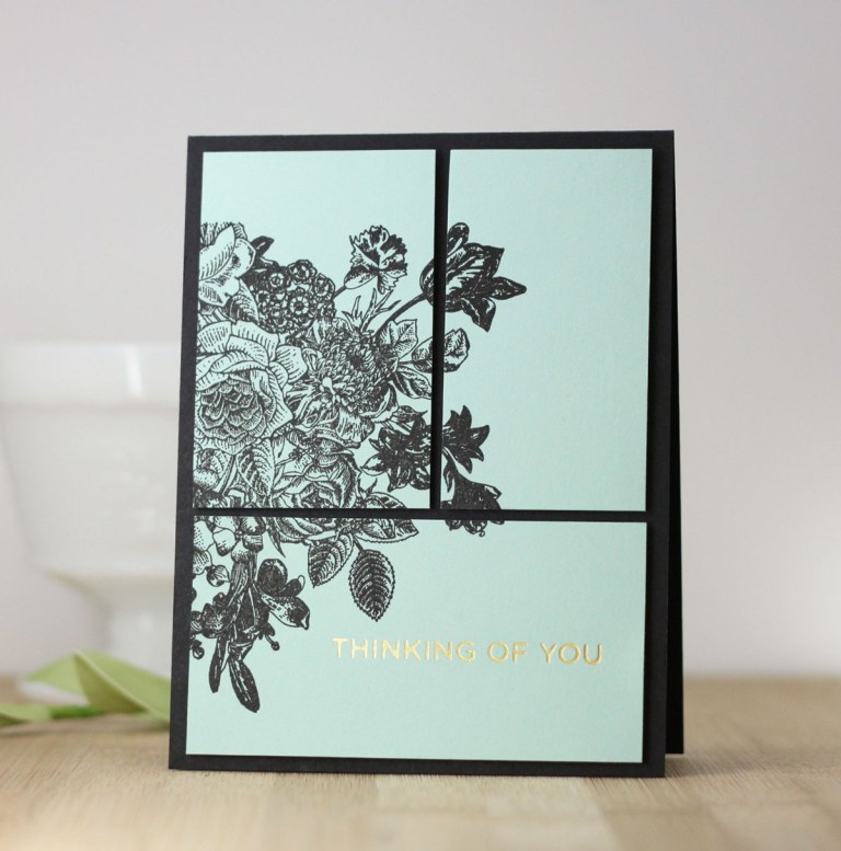 Glimmer Hot Foil Inspiration | Clean & Simple Foiled Cards with Laurie Willison for Spellbinders